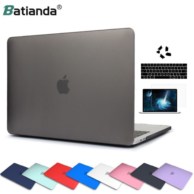 Matte Crystal Plastic Hard Case Cover For Macbook Pro 2017 2018 Pro Retina 13 15 Inch A1706 A1707 Touch Bar New Air 13 A1932 Review Macbook Pro Cover Macbook Pro 2017 Case Cover