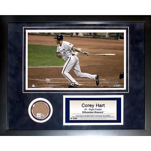 Steiner Sports MLB Corey Hart Mini Dirt Collage - Milwaukee Braves