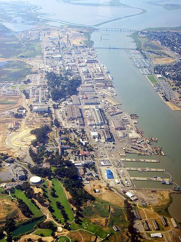 Mare Island Naval Shipyard: Aerial view
