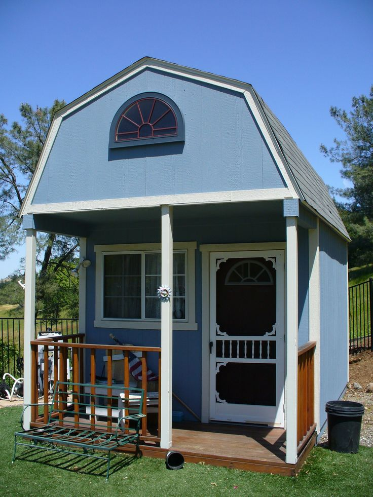 64 best images about guest house on pinterest sheds for Shed with porch and loft