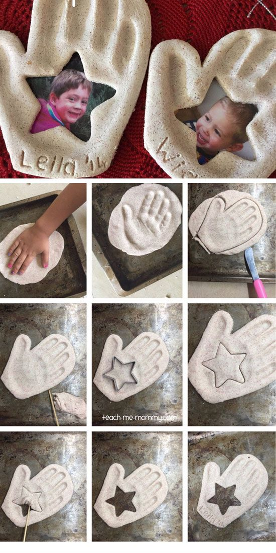 Handprint & Photo Keepsake Ornament | DIY Fathers Day Gift Ideas from Kids | DIY Birthday Gifts for Dad