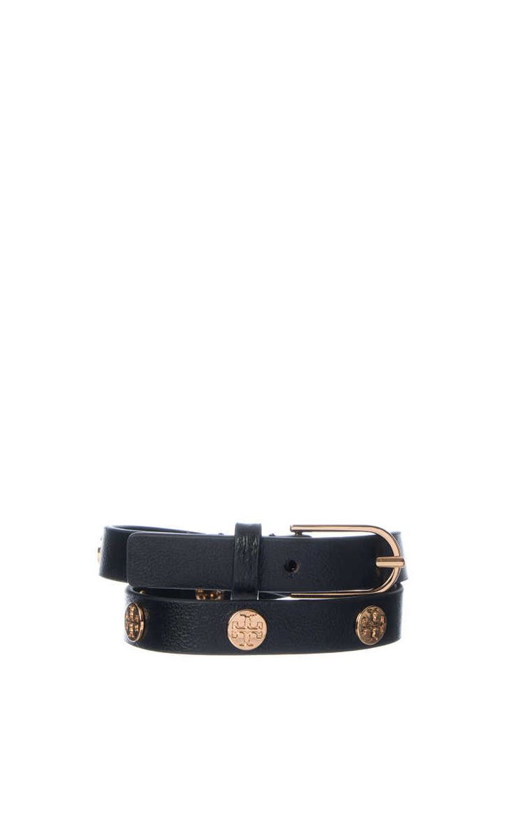 Armband Double-Wrap Logo Stud BLACK/GOLD - Tory Burch - Designers - Raglady