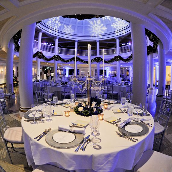 Dine like the first lady beneath the stunning domed ceiling of Epcot's American Adventure Rotunda #wedding #winter