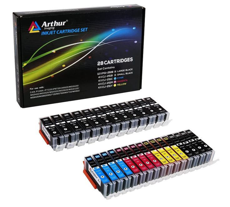 Arthur Imaging Compatible Ink Cartridge Replacement for Canon PGI-250XL CLI-251X…