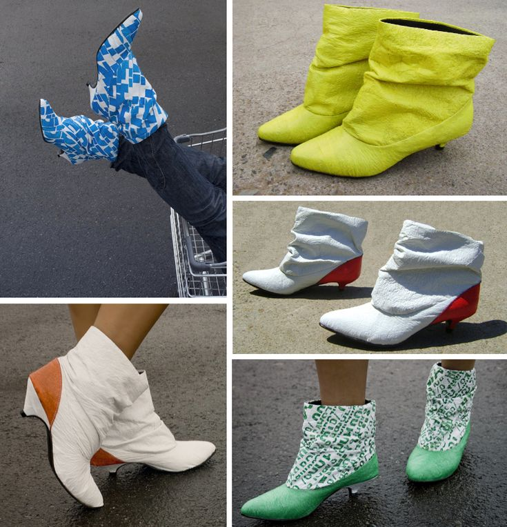DIY plastic bag shoes