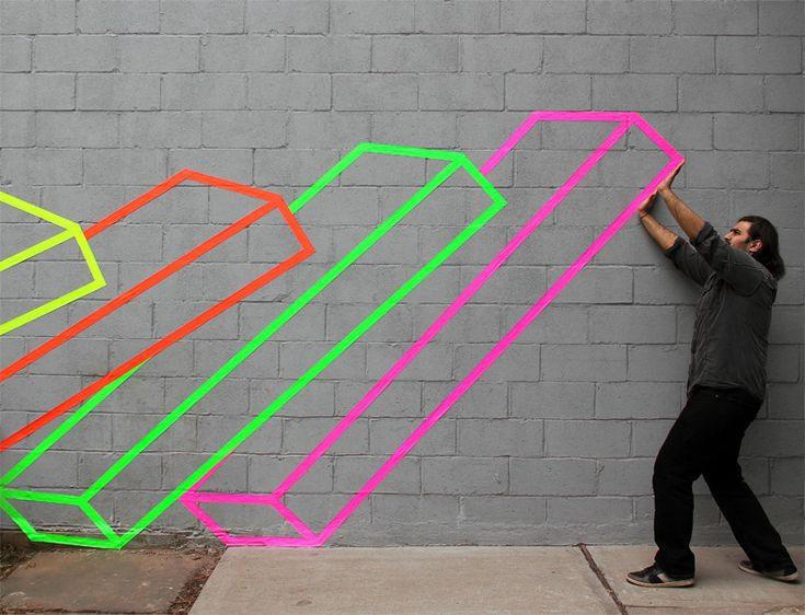 Domino street art