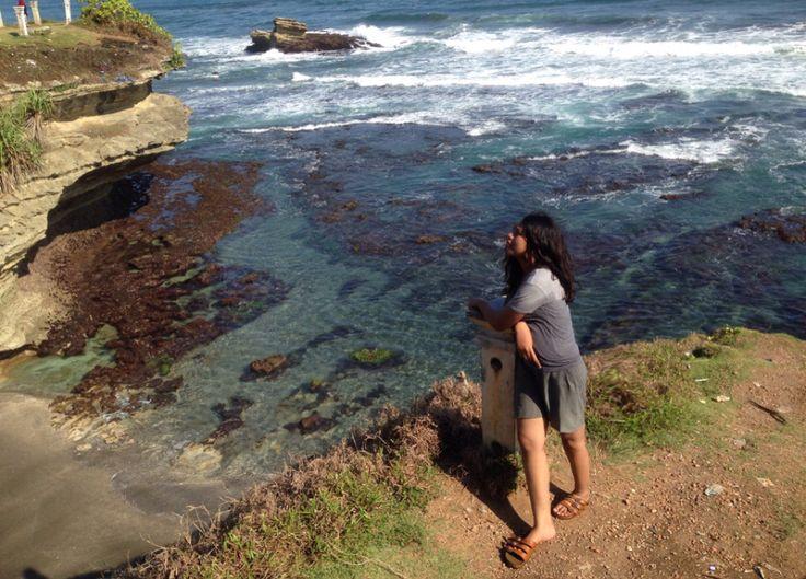 My vacation at Pantai Batu Hiu, Pangandaran Jawa Barat Indonesia