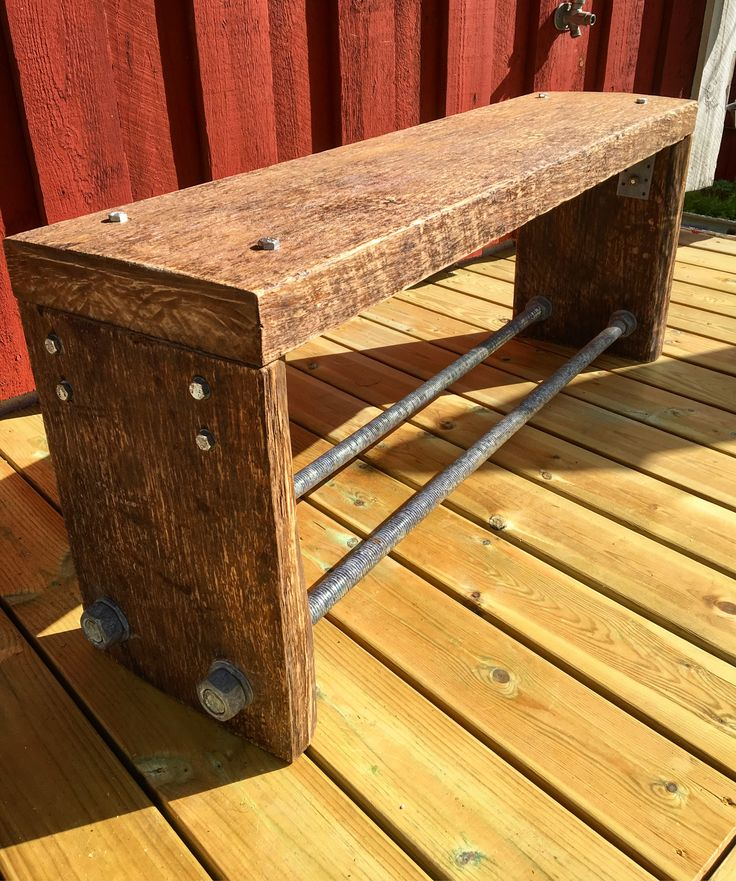 Industrial tv-table from old wood