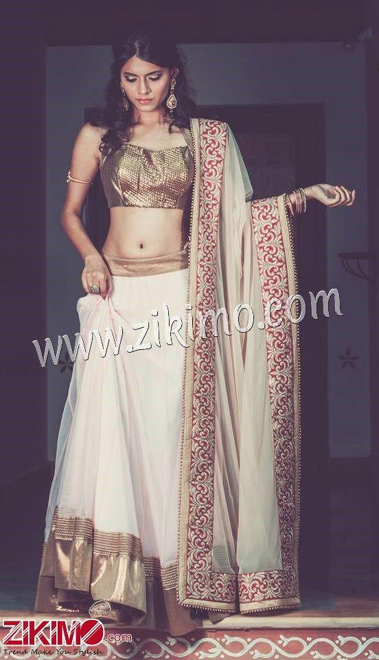 Extraordinary White Color Net Fabric Made To Order Designer Party Lehenga