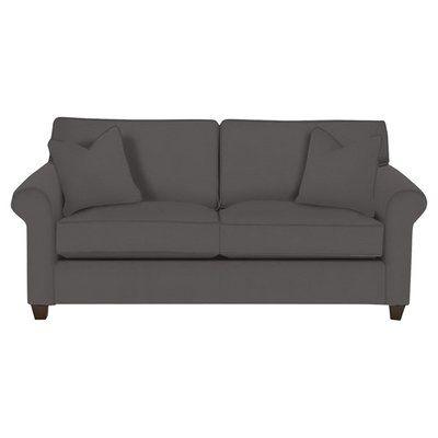 Wayfair Custom Upholstery Eliza Sofa Color: Ranger Twill Mink - Cotton