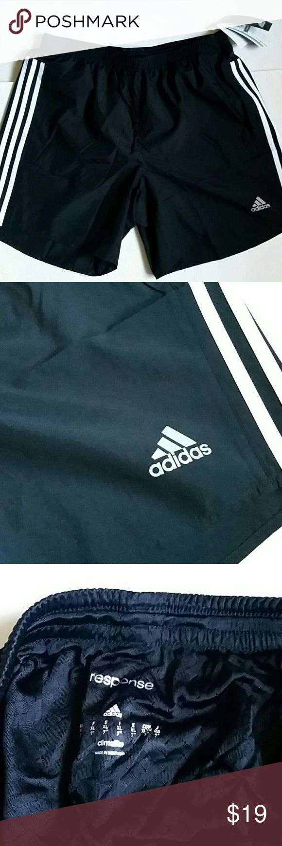 Adidas men's running shorts Running shorts, 1 little zip picket for keys.   I do have bundle discount, other than that all prices are firm! adidas Shorts Athletic