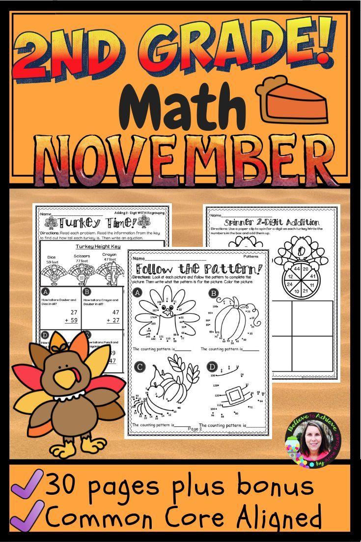 2nd Grade Math For November Worksheets 2nd Grade Math Math 2nd Grade [ 1102 x 735 Pixel ]
