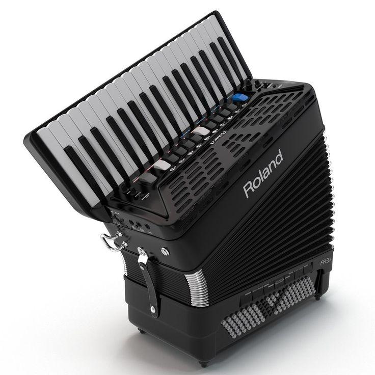 3D C4d Accordion Roland - 3D Model