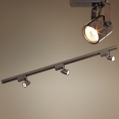 8 best track lighting images on pinterest track lighting kits pro track bronze finish 150 watt low voltage track kit style 28875 aloadofball Image collections