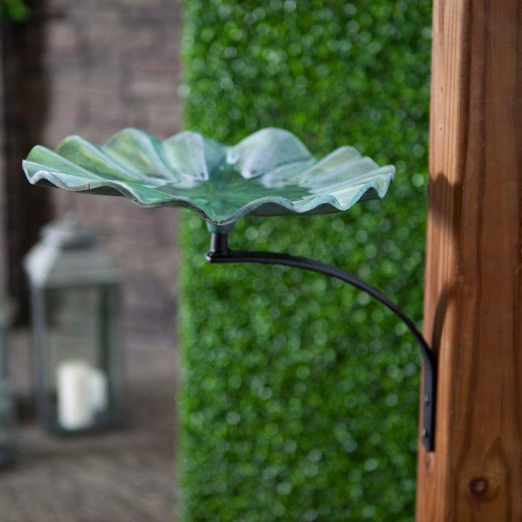 Lily Leaf Bird Bath with Wall Mount Bracket - MA635