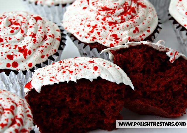 Blood Splatter Cupcakes