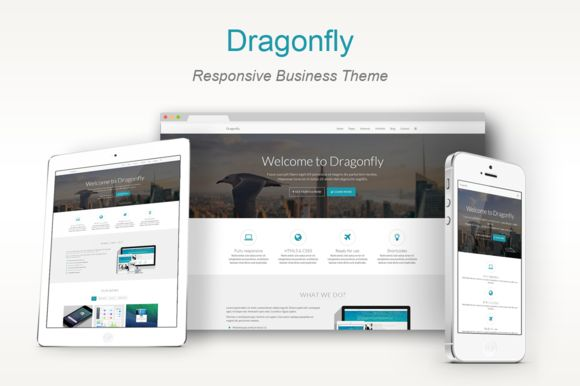 Check out Dragonfly-Responsive Business Theme by Bootstrap Themes on Creative Market