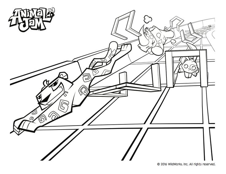 animal jam coloring pages jamaalidays - photo#8