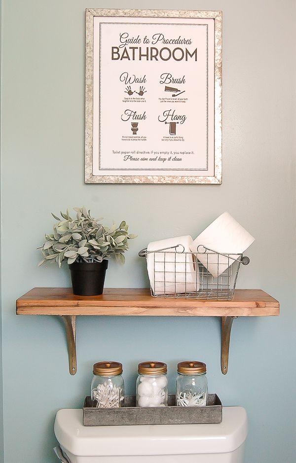THE PERFECT STYLISH STORAGE!  Turn ordinary mason jars into beautiful bathroom storage. www.littlehouseoffour.com
