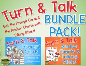 This bundle includes everything you need to begin using  Turn and Talk as part of your class discussion routines!