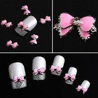 Creo que Fashion 10Pcs 3D Pink Multi-Rhinesto Bow Tie Nail Art Decoration Stickers DIY te gustará. Agrégalo a tu lista de deseos   http://www.wish.com/c/5518f5fb77aa880cf41d029d