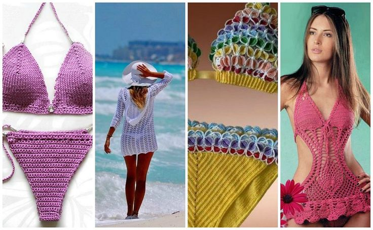 17 best images about crochet on pinterest free pattern for Trajes de bano tejidos