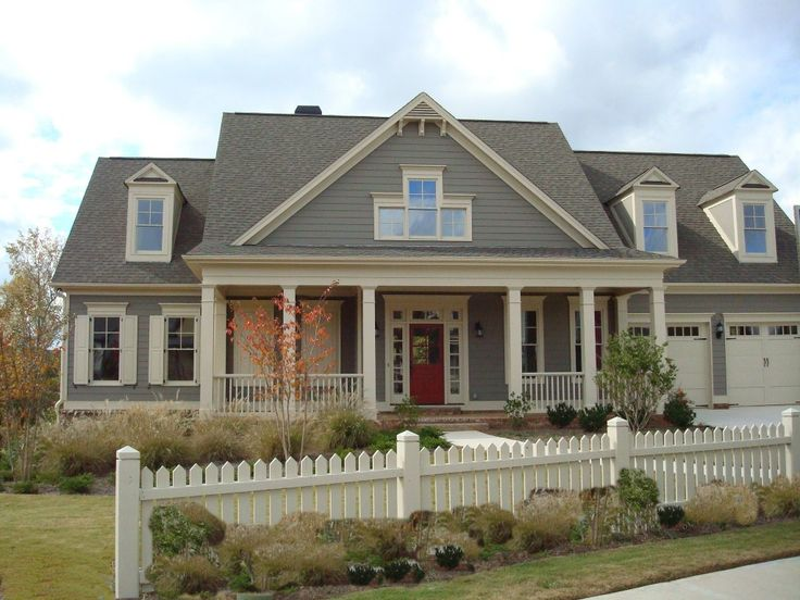love this house color--maybe black shutters instead!
