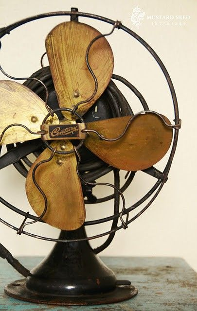 I totally found a vintage fan/clock like this at Pier One for the welcome table entrance to the reception! -LB