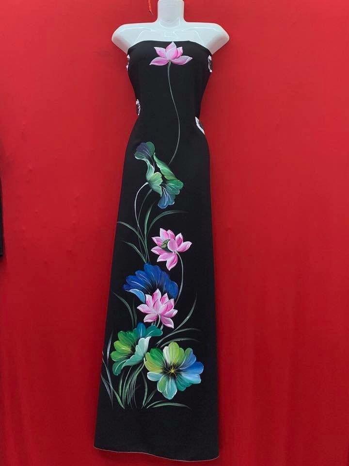cee21522 Pin by Ha on MẪU VẼ ÁO in 2019 | High neck dress, Fabric painting, Dresses