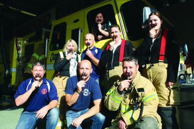 Stratford and Tavistock Fire Dept. with Rheo girls