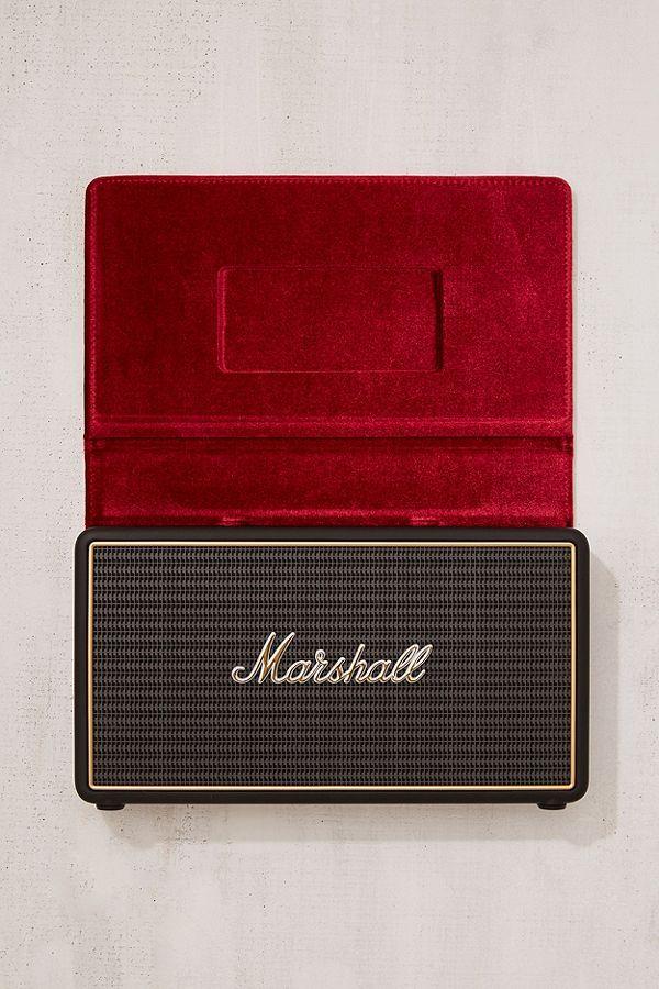 Slide View: 3: Marshall Stockwell Travel Speaker + Stand Set