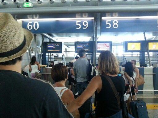 Ryanair checkin counter. Porto International