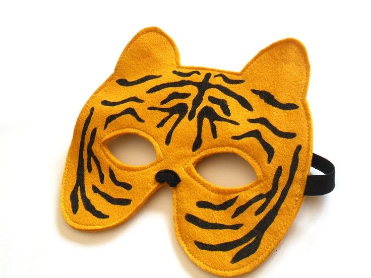 Tiger Children Mask, Kids Carnival Mask, Halloween Animal Dress up Costume Accessory for Boys, Children Pretend Play Toy Toddler. €11,00, via Etsy.