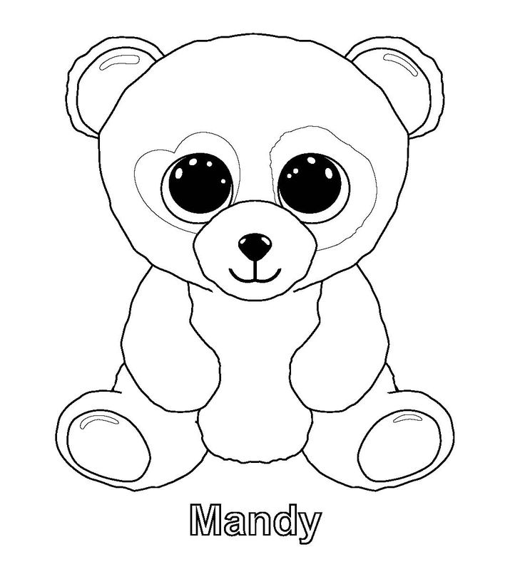 ty beanie boos coloring pages - Panda Coloring Page