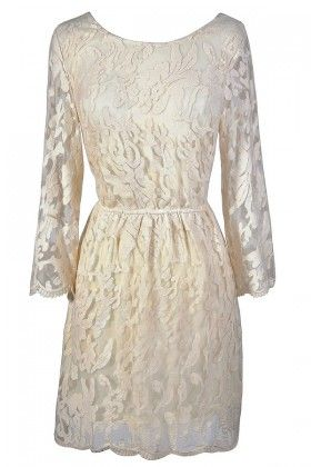 Ivory lace dress, ivory rehearsal dinner dress, ivory bridal shower dress, ivory lace rehearsal dinner dress, beige lace dress, off white lace dress