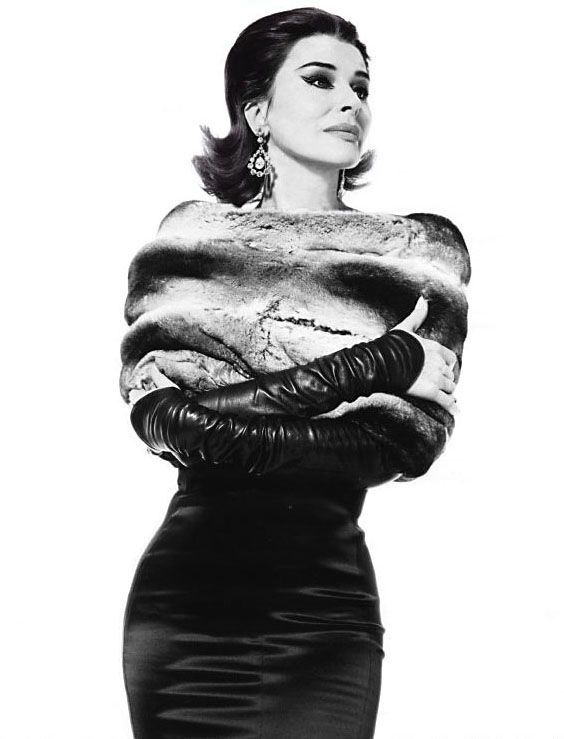 Fanny Ardant as Maria Callas. Photo by Karl Lagerfeld.