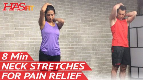 Low Impact Difficulty Neck pain can cause headaches and make life miserable. Try this simple stretching routine to provide neck pain relief. The only thing required for the neck exercises is either a resistance band or