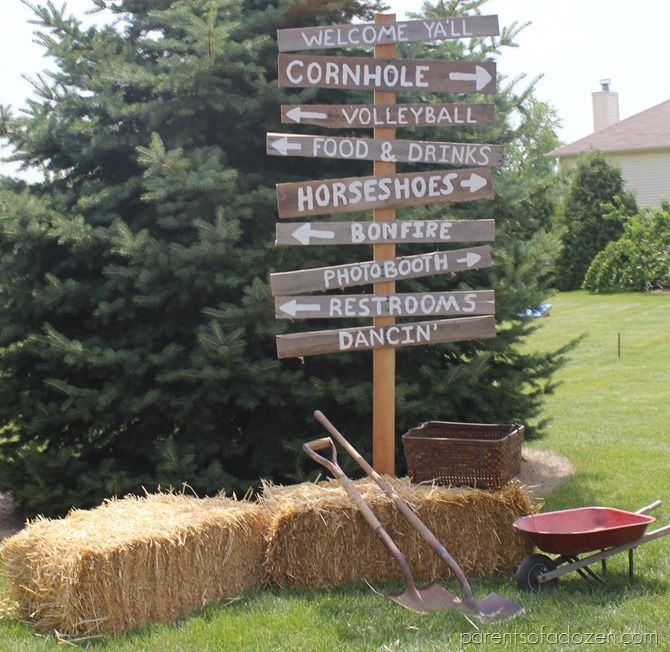 Great ideas for having a country party!