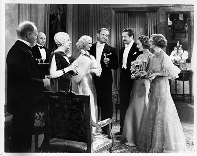 Lionel Barrymore, Wallace Beery, Billie Burke, Jean Harlow, Harry Beresford, Madge Evans, and Grant Mitchell in Dinner at Eight (1933)