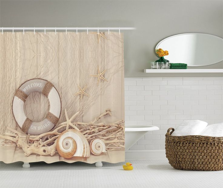 Beach Shower Curtains And Nautical Shower Curtains To Improve Your Beach  Themed Bathroom Decor.