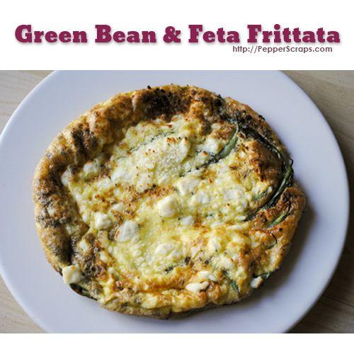 Green Bean & Feta Frittatas | Recipe
