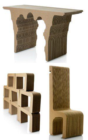 Diseño: Muebles de cartón para hogares con alma ecologista. Noticias de Estilo. Relojes de cartón, sillas con pelo y bolsos de papel forman parte de una propuesta alternativa y original que incorpora valores ecológicos y sociales al hábitat
