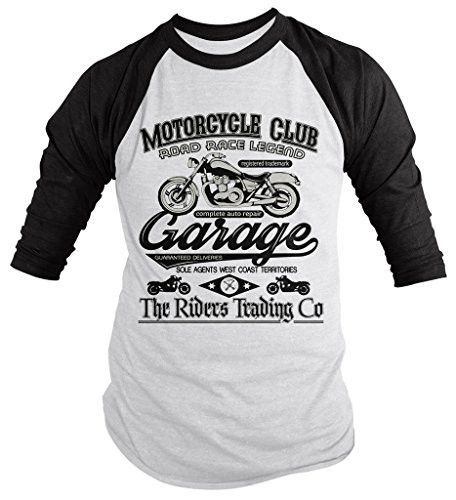 This t-shirt makes an awesome gift for any rider. The vintage design will never go out of style and is perfect to wear on long rides or group rides and events. Motorcycle Club Road Race Legend Garage