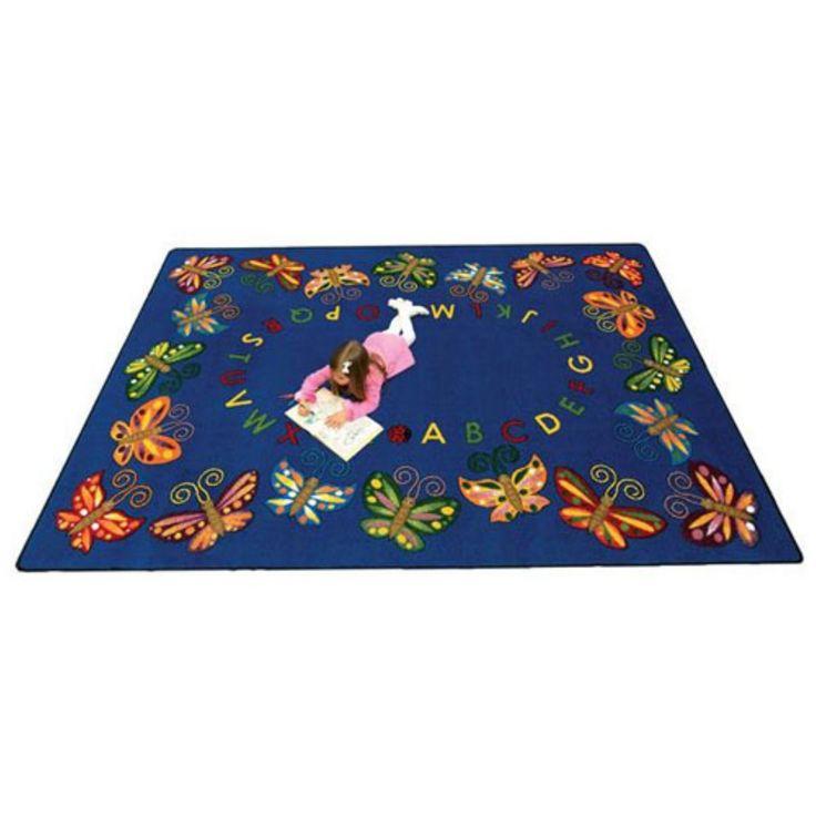 Joy Carpets Butterfly Delight Kids Area Rug - 1541-C