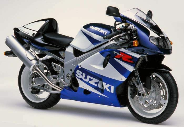 Suzuki TL 1000 R blue white, a very nice v-twin sport bike.