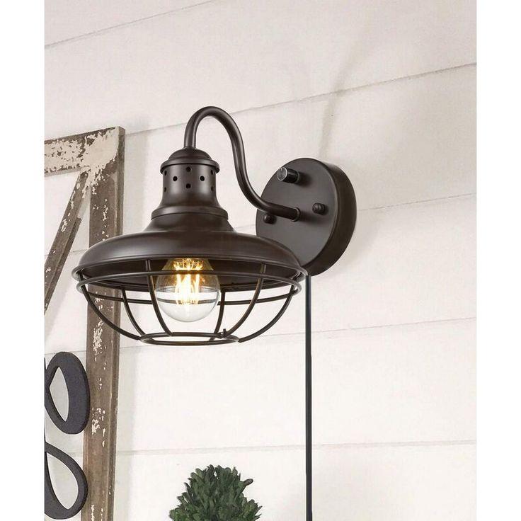 Marino Goose Neck 1-Light Plug-In Barn Light | Barn ...