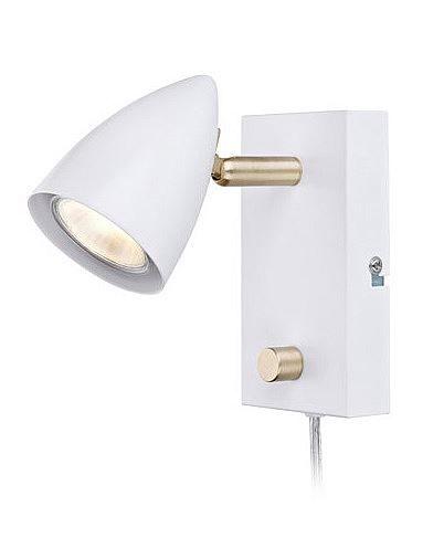 Vit sänglampa - Markslöjd 106317