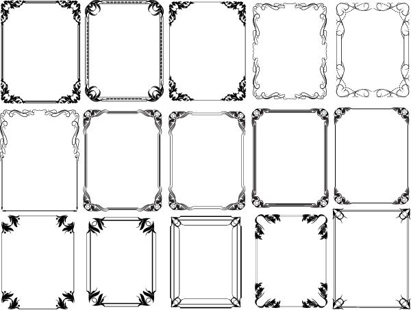 30 Free Ornaments, Frames  Borders Vector Resources