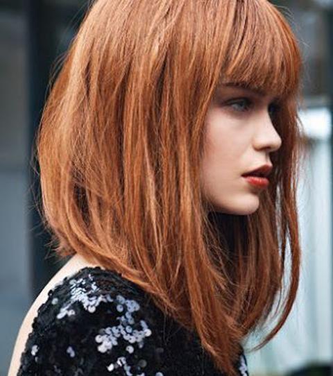 Coupe carré : 20 coiffures pour porter le carré avec style | Carré plongeant long frange, Carré ...
