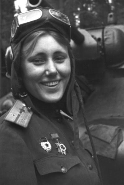 Aleksandra Samusenko, 1943. She was a Captain of the 1st Guards Tank Army